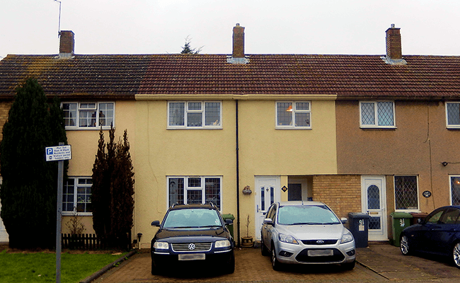 Terraced properties near Borehamwood